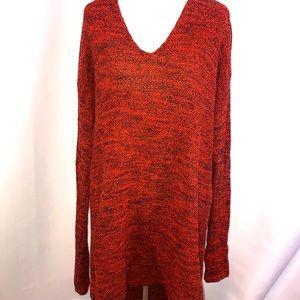 H & M textured sweater. Burnt orange color